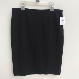 Calvin Klein Black Pencil Skirt NWT 6P